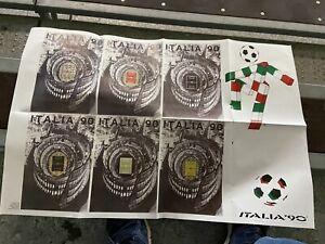 POSTER MONDIALI ITALIA 90 CIAO E MANIFESTO UFFICIALE FOOTBALL CALCIO ITALY
