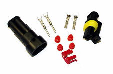 SUPERSEAL AMP TYCO WATERPROOF TERMINAL ELECTRICAL CONNECTOR 2 WAY 1.5-2.5 KIT