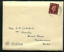 GB 1½d  KGVI cover(entire) Recvd from HM Ships (Warspite) 24MAY39