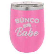 Stemless Wine Tumbler Coffee Travel Mug Glass Bunco Babe
