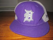 New Era 59Fifty Detroit Tigers Fitted Hat Cap Size 7 3/4 Purple & Gray Preowned