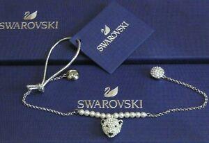 SWAROVSKI 5493706 POLAR BEAR Bestiary Bracelet RHODIUM PLATED Authentic
