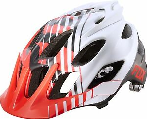 Fox Racing Flux Helmet Savant Red/White