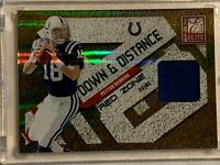 2010 Donruss Elite Jersey PATCH red zone prime #49 PEYTON MANNING colts # 28/50