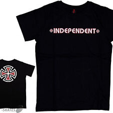 "INDEPENDENT ""Bar Cross"" Youth Skateboard T-Shirt BLACK S M L XL Kids INDY Tee"