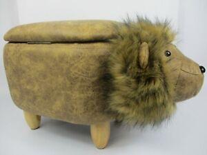 Upholstered BNIB Kid's Storage Stool Sit-On Toy Box - Lion (with Mane)