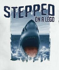 Stepped on  A  Lego  Shark  Tshirt    Sizes/Colors