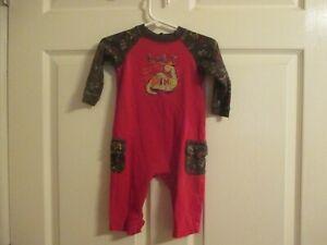 Okie Dokie Boys Size 3/6 Months Red Dino 1pc Pajamas Great Condition
