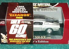 "YAT MING 1968 FORD MUSTANG SHELBY GT500 KR ""GONE in 60 SECONDS"" 1/43 ELEANOR"