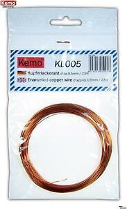 KEMO KL005 0,5mm Kupferlackdraht / Copper wire ca. 23 m