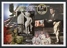 Chad 2000 MNH Marilyn Monroe John F Kennedy JFK 1v S/S Celebrities Stamps