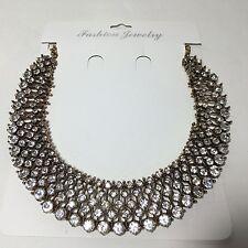 "Kate Middleton Sparkly Statement Bead Crystal Necklace Royal BIB ""zara STYLE"""