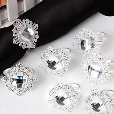 Metal Acrylic Napkin Ring Holder Wedding Party Banquet Dinner Table Decor Health