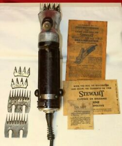 Vintage Stewart  ShEARMASTER Flexible Shaft MODEL 31B-1 W/ Extra Cutters USA
