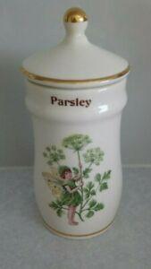 VINTAGE 1989 GRESHAM THE FLOWER FAIRY LIDDED CERAMIC SPICE JAR PARSLEY