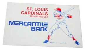 Vintage 1976 ST. LOUIS CARDINALS MLB Baseball pocket card schedule