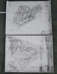 2-Disneyland PIRATES OF THE CARIBBEAN Disney Blue Print Copies Upstairs & Down!!