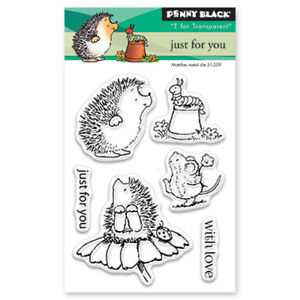 New Penny Black JUST FOR YOU Mini Clear Stamp Critters Love Mice Flowers Friend