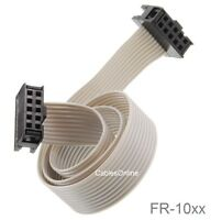 10-Pin (2x5) Female to Female 2.54mm-Pitch 10-wire IDC Flat Ribbon Cable