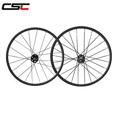 CSC 24mm Clincher fixed gear carbon wheels / carbon flip flop track wheelset