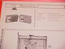 1965 PHILLIPS CAMPER INTERCOM SERVICE MANUAL PTC-400-MR CHEVROLET GMC FORD VW