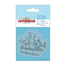 Sledge Transparente Sello-pippinwood Navidad-docrafts