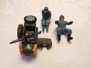 Britains Deetail 1:32 II WK WW 2 Wehrmacht Kradmelder Motorrad BEIWAGEN + Teile!