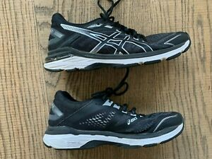 ASIC GT-2000 7 1012A147 WOMENS BLACK & WHITE RUNNING SHOES UK SIZE 6.5