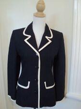 laura ashley blue cream  jacket   ELEGANT   linen silk  small