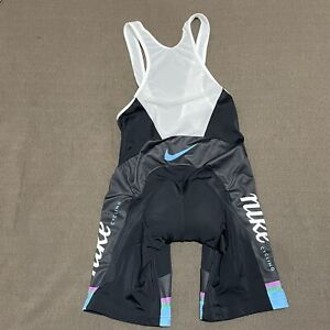 Castelli Nike Cycling Black Bib Shorts Adult XL Kiss3 Chamois Padded Stretch USA