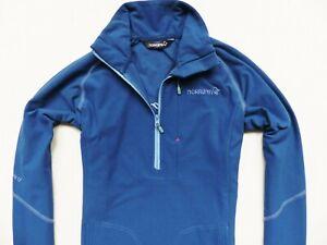 WOMEN'S BLUE NORRONA SVALBARD FLEX1 STRETCH SWEATER JACKET SIZE: S (SMALL)