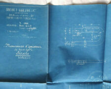 Vintage French Industrial Engineering Diagram Jacout Breton Blueprint