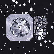 1.5g Born Pretty Silver Nail Flakes Sequins Glitter Mixed Size Paillette Decor