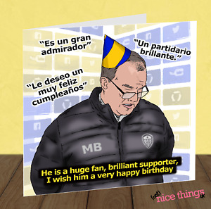 Marcelo Bielsa Birthday Card for Son, Football Birthday Card, Funny Brother