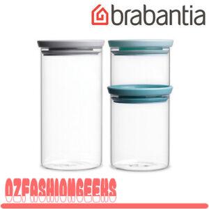 Brabantia Stackable Glass Jar Set 3 Pieces 07869 PI