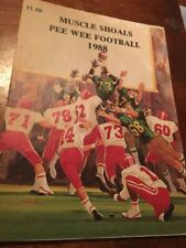 1988 Muscle Shoals Alabama Pee Wee Football Program