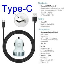 Dual Port Car Charger + Type C Connector Sync Charging Cable for NEXUS 5X/6P/ G5