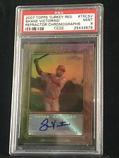 2009 Topps Turkey Red Refractor Chromograph SHANE VICTORINO PSA 9 MINT AUTO POP1