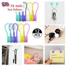 Multifunction Magnet Earphone Cord Winder Cable Holder Organizer Clip Hubs 12pcs