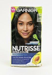 Garnier Nutrisse Permanent Color Creme Hair Color EM1 Deep Intense Emerald