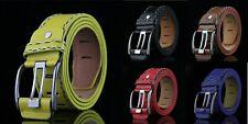 Men formal Leather Belt Pin Buckle Mens Business Belt Jeans Belts USA1