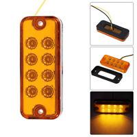 8LED 12/24V Amber Side Maker Trailer Light Turn Signal Indicator Lamp Truck Car