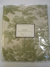 Pottery Barn Riley California King Headboard Slipcover Matine Toile sage grn crm