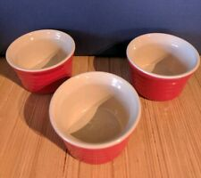 Le Creuset Poterie Red French Ramekins 3.75 Inches & 7.75 Fl. oz. Set of 3