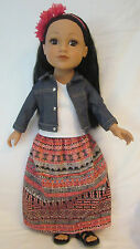 """JOURNEY GIRLS DOLL, """"NEW YORK CALLIE"""", 18-INCHES, EXCELLENT CONDITION"""