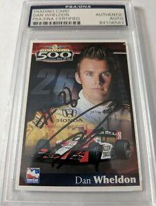 Dan Wheldon 2004 Indianapolis Motor Speedway Card Autograph PSA DNA