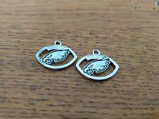 Philadelphia Eagles Football charms (2) - Make your own jewelry/add to bracelet
