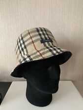 burberry nova check quilted reversible bucket hat