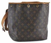 Authentic Louis Vuitton Monogram Petit Noe Shoulder Bag M42226 LV B6761