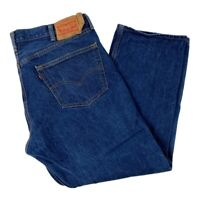 Levi's Mens 501 Classic Straight Jeans Blue Pockets Button Fly Denim 40 x 30